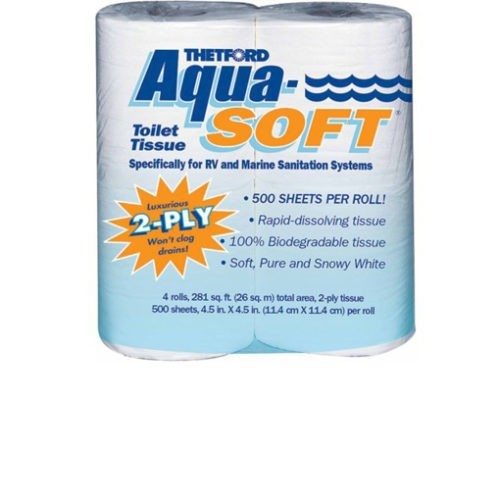 Image Aqua-Soft Toilet Paper - Pack of 4