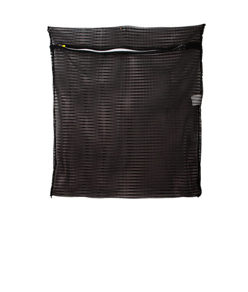 Image Net Bag with Zipper - Black