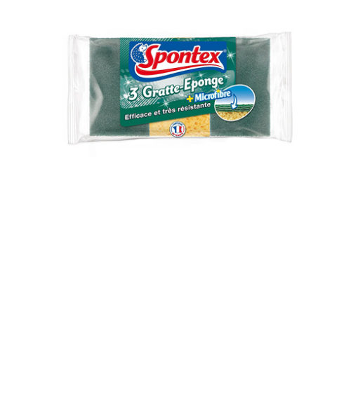 Image Sponge with Green Scourer - Pack of 3