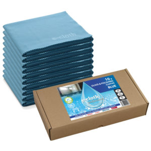 Image Ecloth Glass and Polishing Cloths Blue Pack of 10