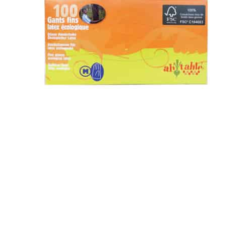 Disposable Ecological Latex Gloves - Box of 100 - S