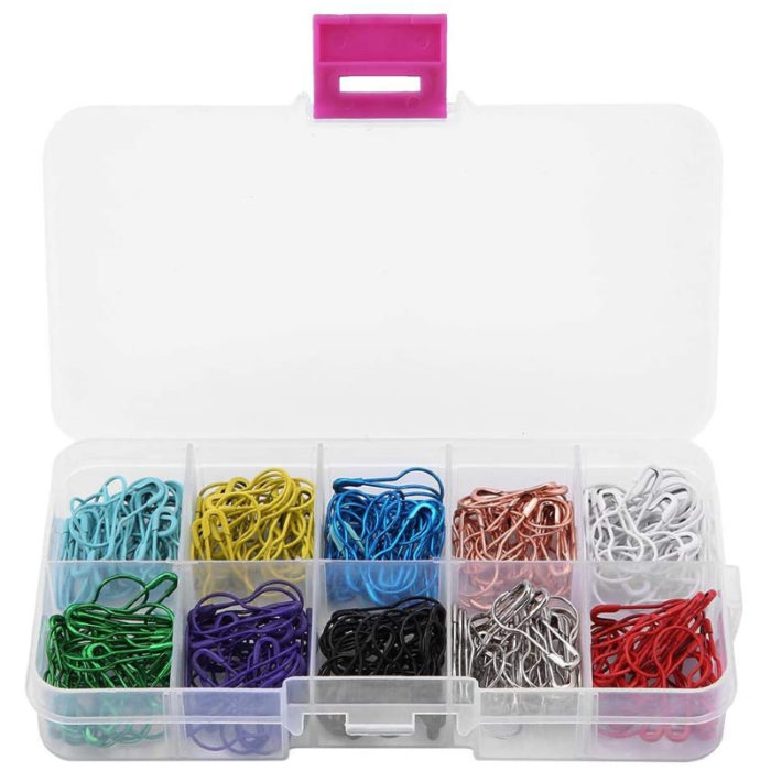 Image Coloured Safety Pins for Tagging